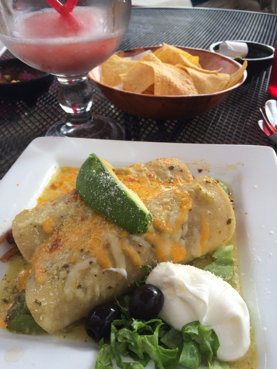 Enchiladas Suizas at El Paraiso