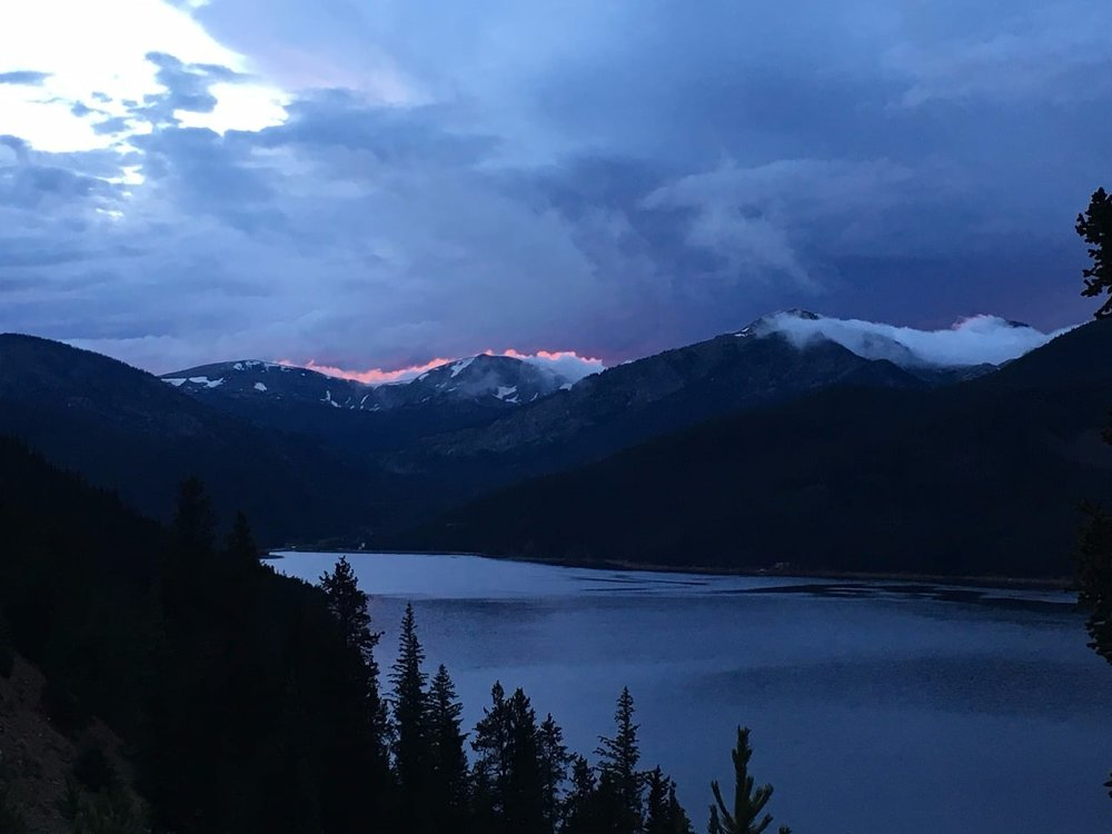 Sunset over Turquoise Lake - Leadville Colorado