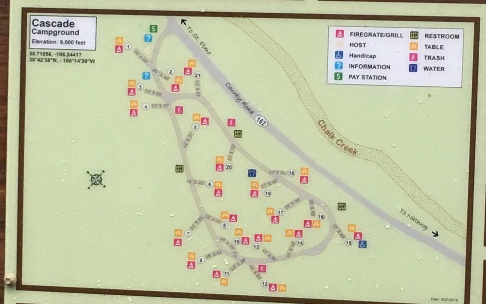 Cascade campground map