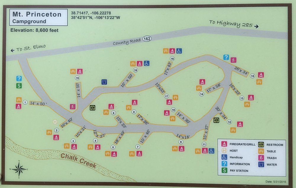 Mt Princeton Campground Map