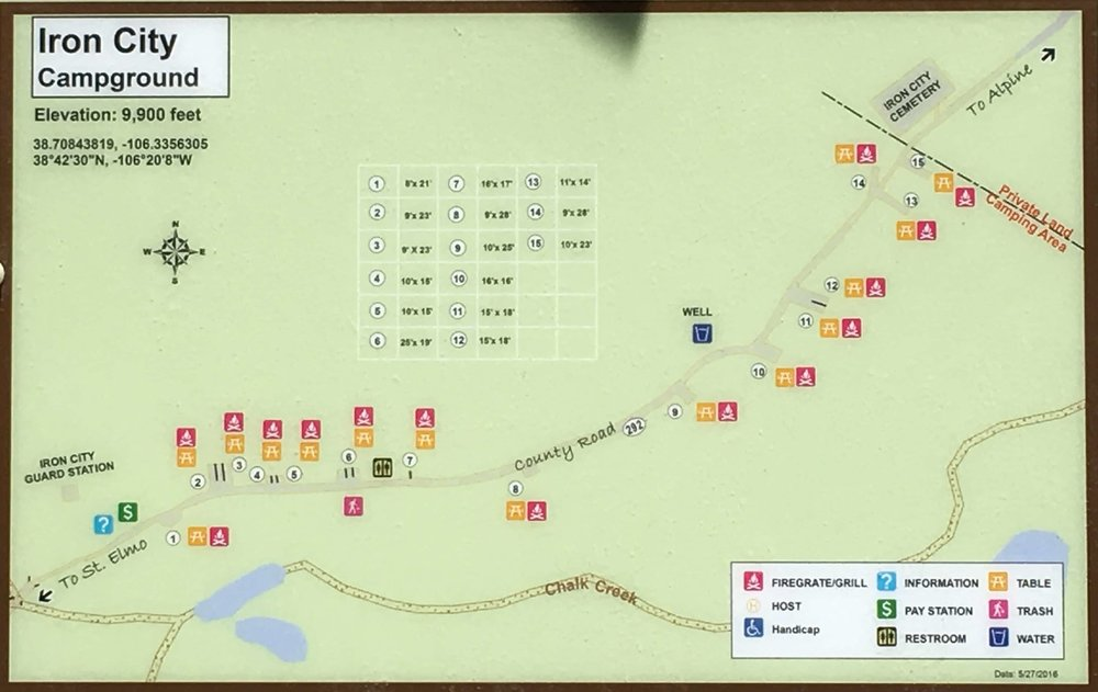 Iron City Campground Map