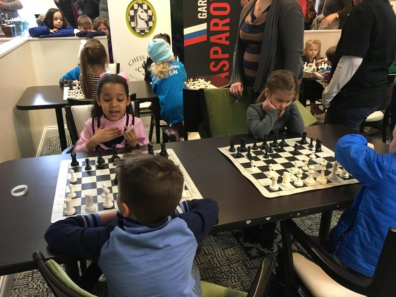 The Chess at 3 kids got to use the facilities where professionals usually play.  Image credit: Goddard School.