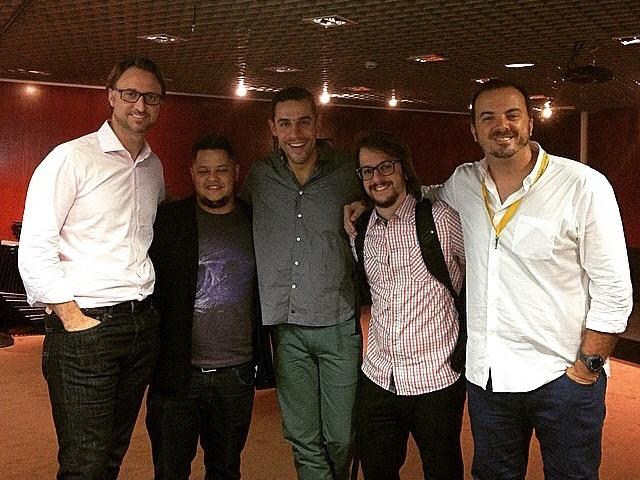 Helio Moreira, Fernando Souza, Bruno Pompeu, Aziz Camali e Marcos Hiller. Fotografia : Marcos Hiller / Brand Thinkers