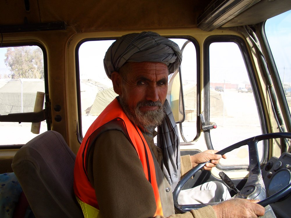 The driver Rasul. We spent hours talking to each other using that guide.