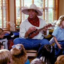 Kindergarten Cop.  Arnold Schwarzenegger is a detective that goes undercover as a kindergarten teacher. That was me, minus the muscles.