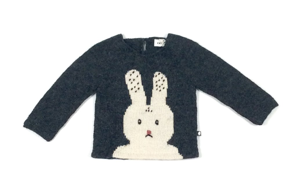 oeuf alpaca kids bunny sweater