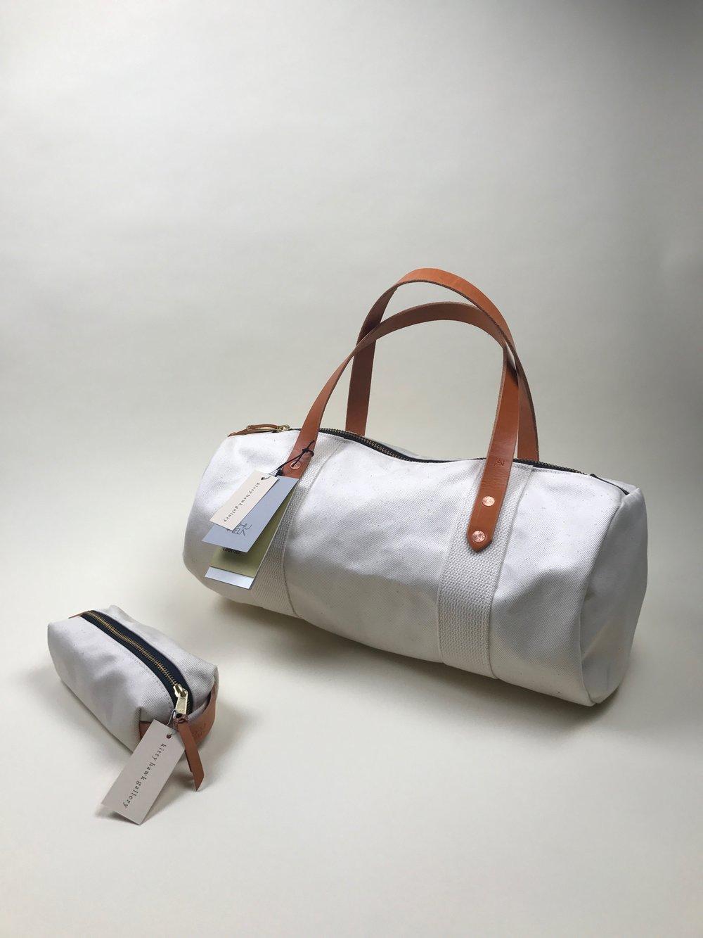 canvas duffle + dopp kit