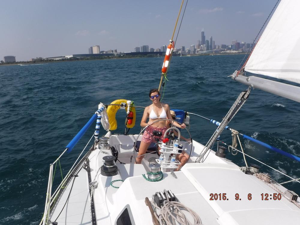 Salty Dog Sailing Chicago Charter 2015.9.6 .JPG