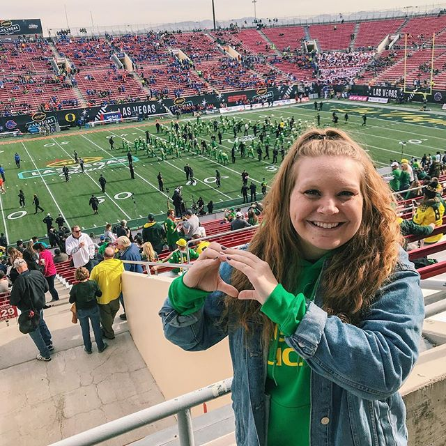 Win or Lose, we loved cheering on our ducks at the Las Vegas Bowl!