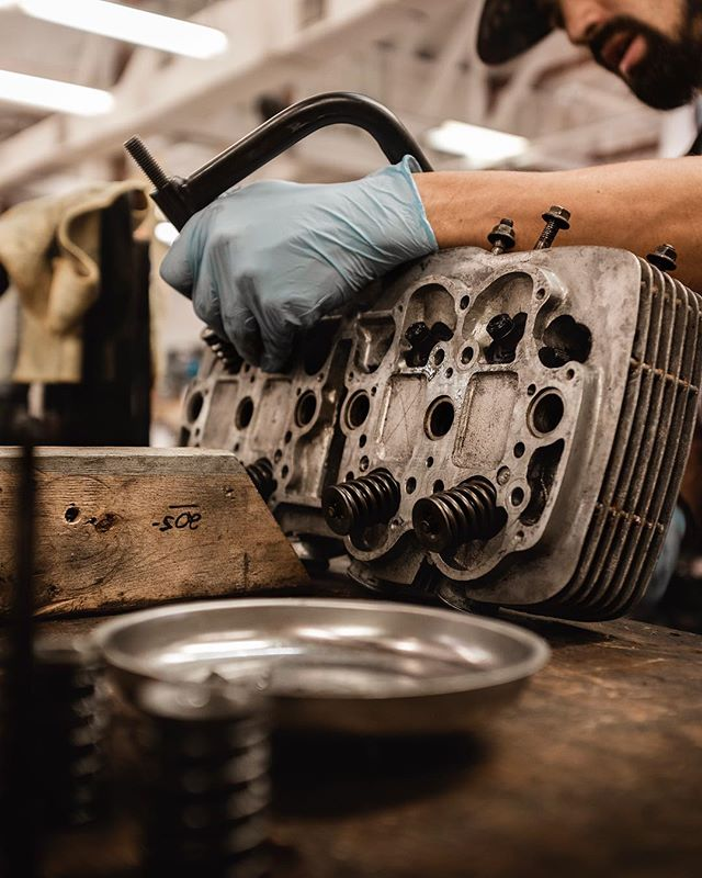 More CB750 valve work. The Burn Up Company shop week begins tomorrow. Give us a shout! . Visit us at: 500 Palm St, West Palm Beach, FLA. Vintage motorcycle sales, service, parts, repair, and customization. . Tue-Fri 10am-6pm || Sat 9am-1pm