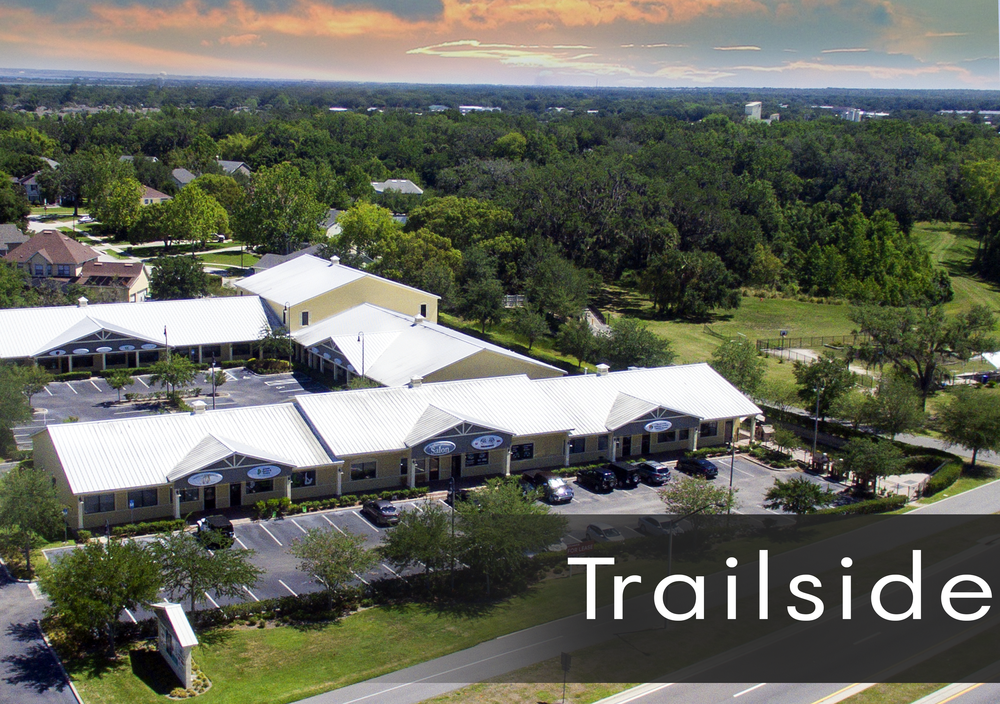 Trailside Center next to Downtown Winter Garden and Winter Garden Library for Lease Retail and Office