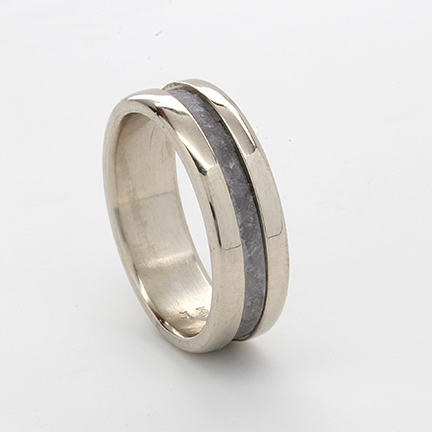 Gold with Tantalum Inlay Rings