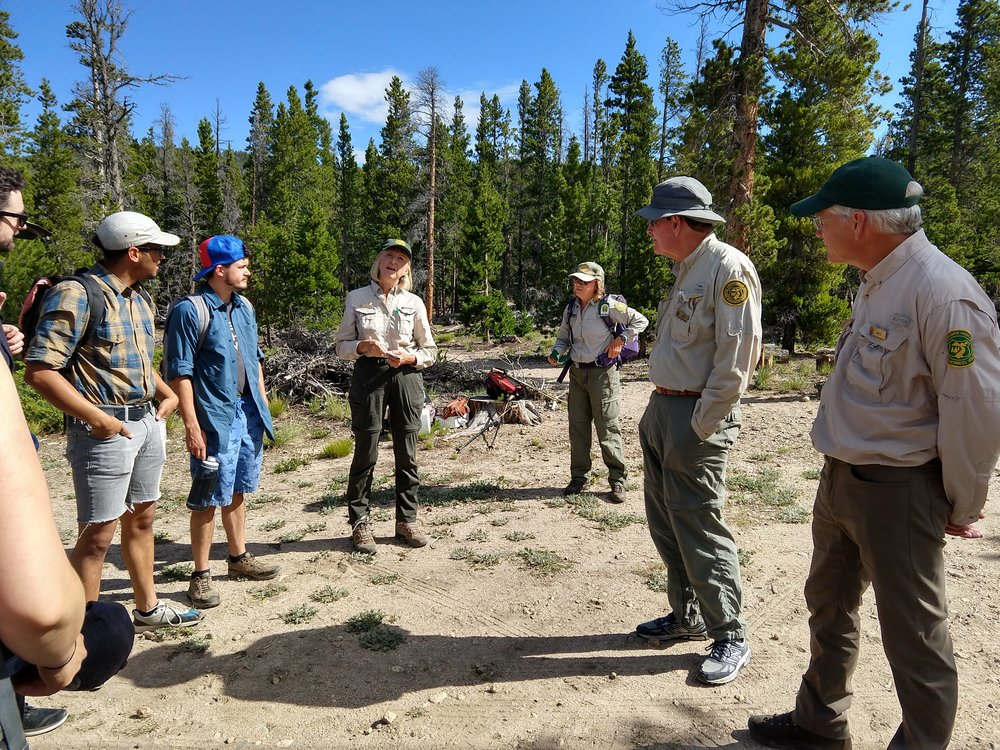 Hitting the trail with the Poudre Wilderness Volunteers!