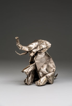 Siam - 10 x 8 x 6 - Painted or Patinated Cast Bronze