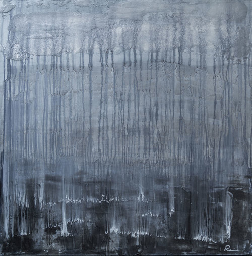 Disrupted Stillness - 48 x 48 - Acrylic on Canvas  $4,500