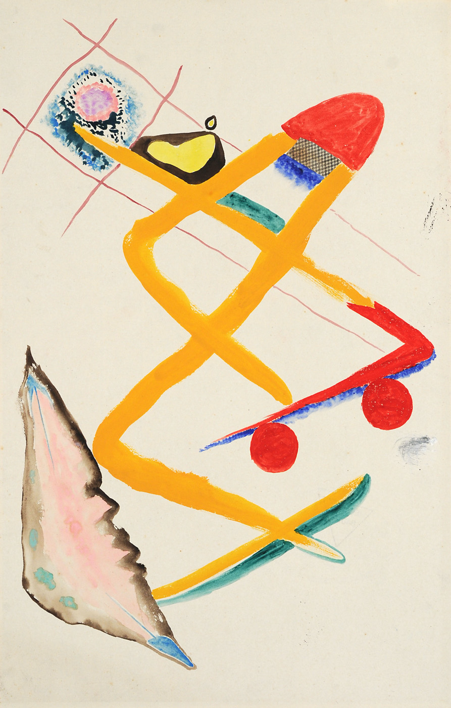 Rudolf Bauer Untitled Watercolor and gouache on paper