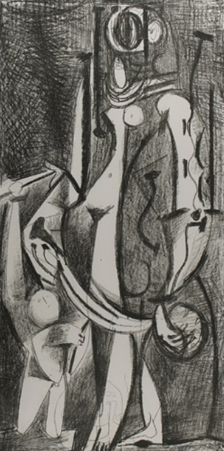 Pablo Picasso Venus et L'Amour d'apres Cranach (Venus and Love, after Cranach) Lithograph on paper 1949