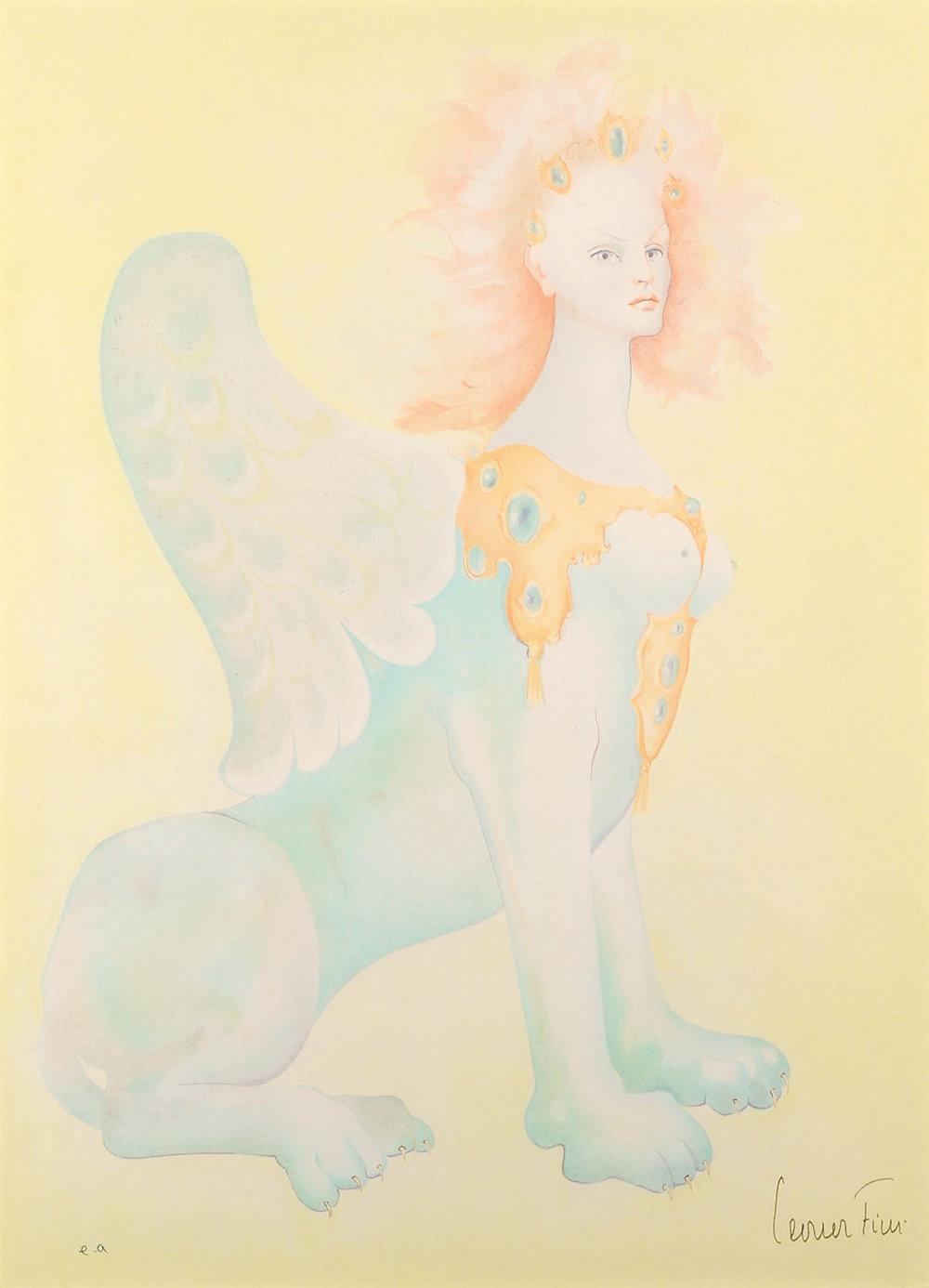 Leonor Fini Sphinge Jaune Lithograph