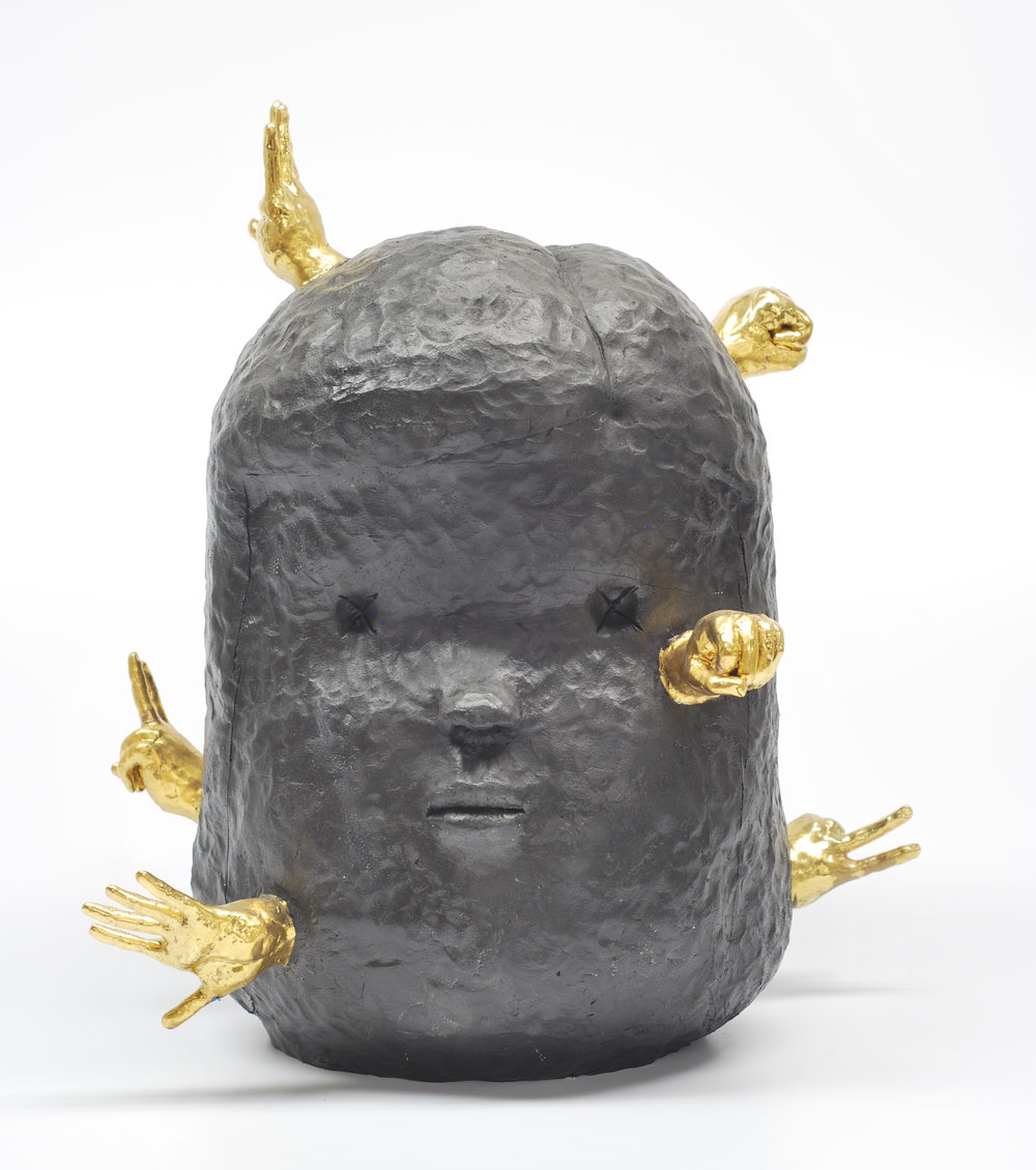 Head No. 2, Stoneware and luster, 20 x 17 x 17, $1500