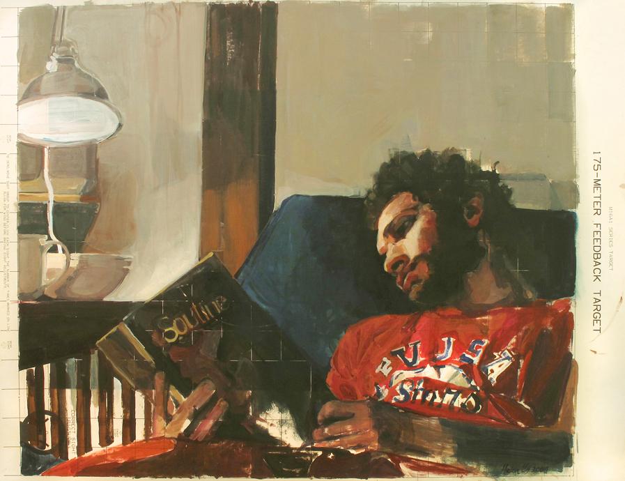 Helen Hawley, Love Me, Love Soutine , oil on paper, 32 x 42, $1,200