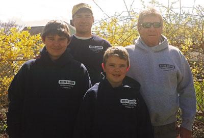L to R: Nicholas Zander, Steven Zander Jr., Christopher Zander, Steve Zander