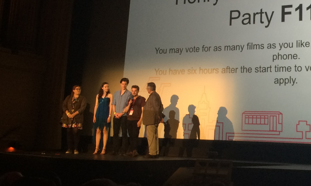 Director, Stephen Cone, and his team during the Q&A at the Frameline screening.