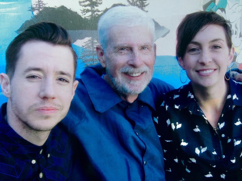 Chase Joynt (left) with Michael Skoor (Center)and daughter Rebekah (Left)