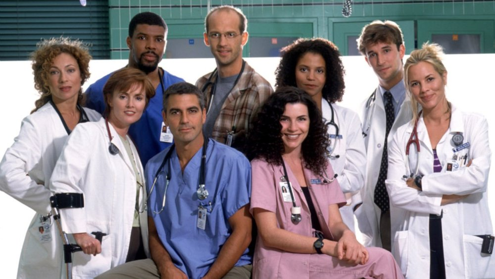 """Like real life, most of  ER 's long-term character development is connected to trauma and struggle,"" writes Ashleigh Hill. Above: cast members of  ER."