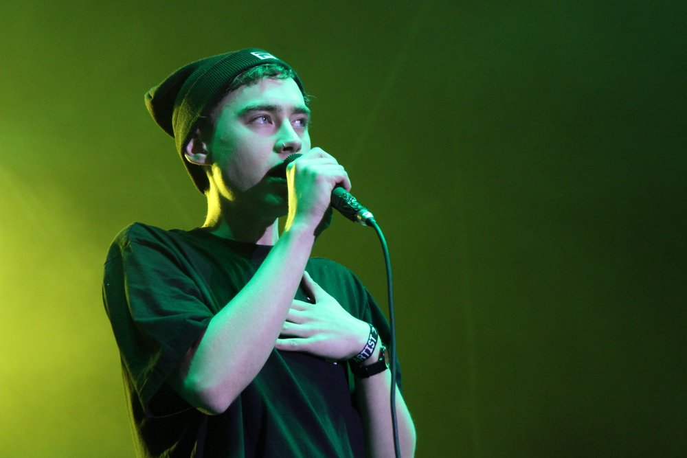 Olly Alexander sings during a Years & Years performance in Poland in 2014. Photo by  Yarl .