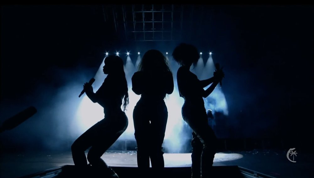 During her two performances at Coachella Music Festival, Beyoncé brought out her former Destiny's Child co-members, Kelly Rowland and Michelle Williams, to perform with her.