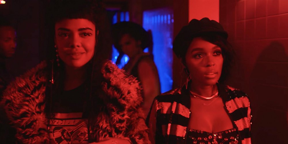 Mary Apple 53 (Tessa Thompson) and Jane 57821 (Janelle Monaé) are the black lesbian lovers at the center of  Dirty Computer 's Emotion Picture.