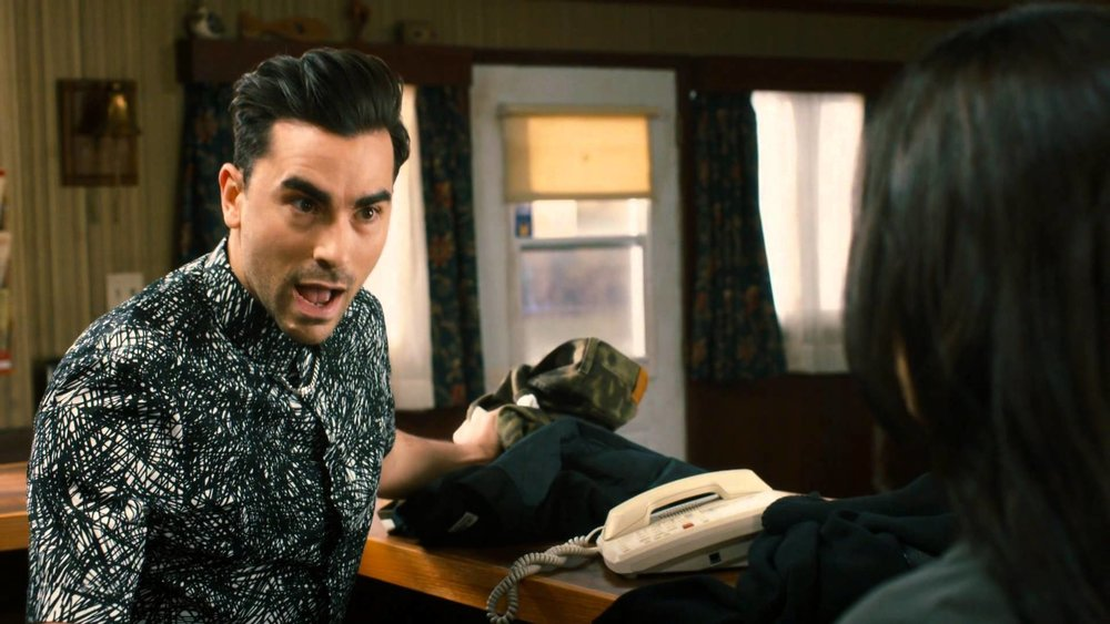 Dan Levy stars as David Rose in  Schitt's Creek , and his character is notable for his lack of clear sexuality–and the show's acceptance of that.