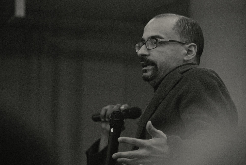 Junot Díaz speaks at The Strand Bookstore in Manhattan in April 2013. / Photo by  jmm . (CC BY-NC-ND 2.0)
