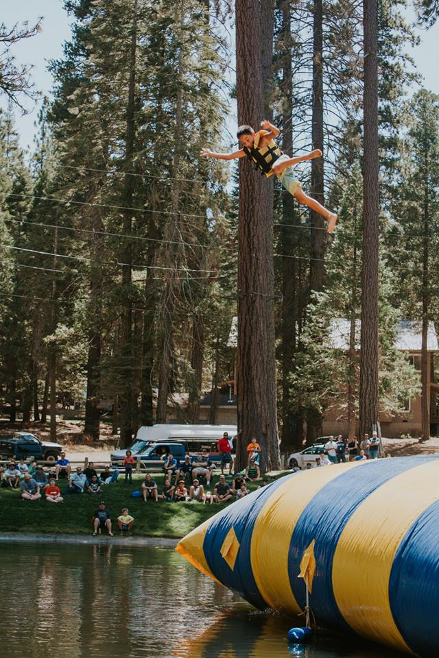 The Blob at Hume Lake's Meadow Ranch Junior High Camp. / Photo courtesy Hume Lake Facebook page.