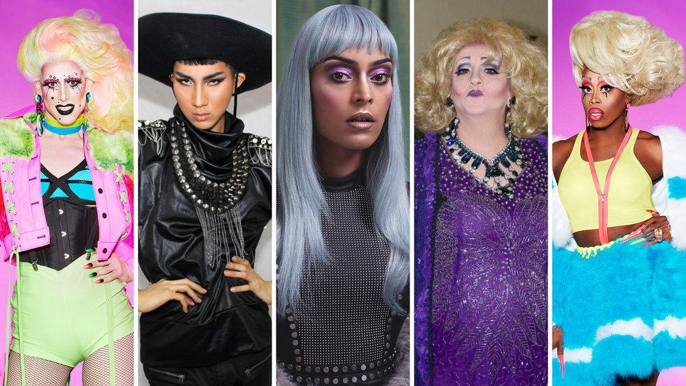 From left to right: Dusty Ray Bottoms, Kodo Nishimura, Asifa Lahore, Serenity Jones and Monique Heart.