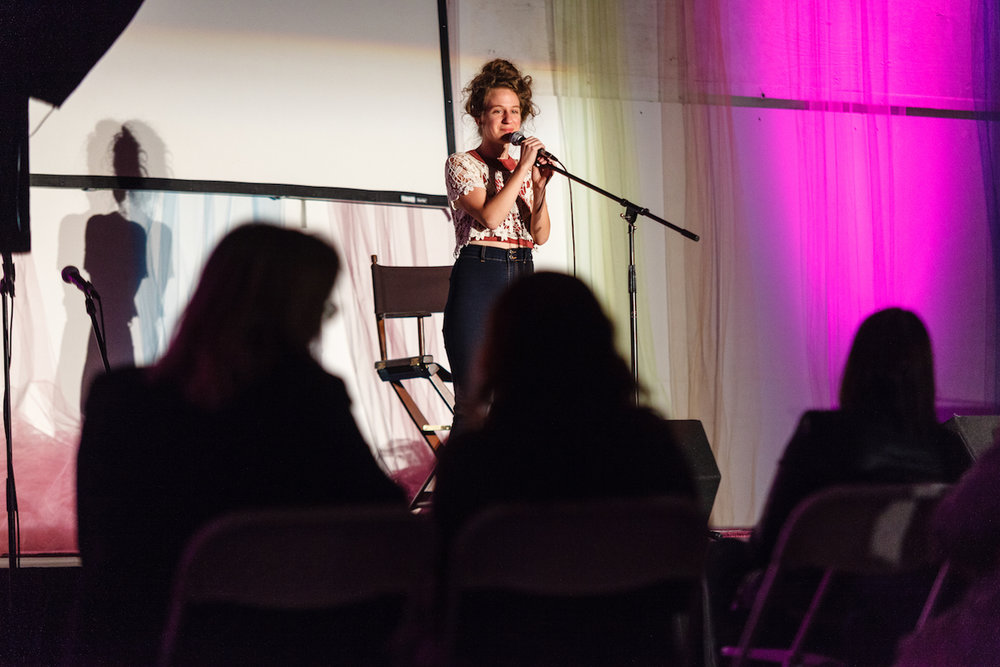 Rachel Mac performs at the 2017 Level Ground Festival. This year, her stand-up show, Typecast, will open the festival on Friday, October 5.