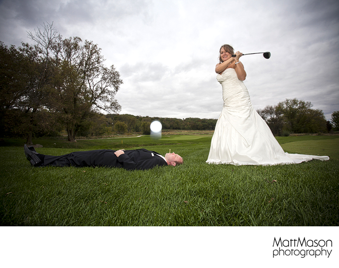 Bride and Groom Golf