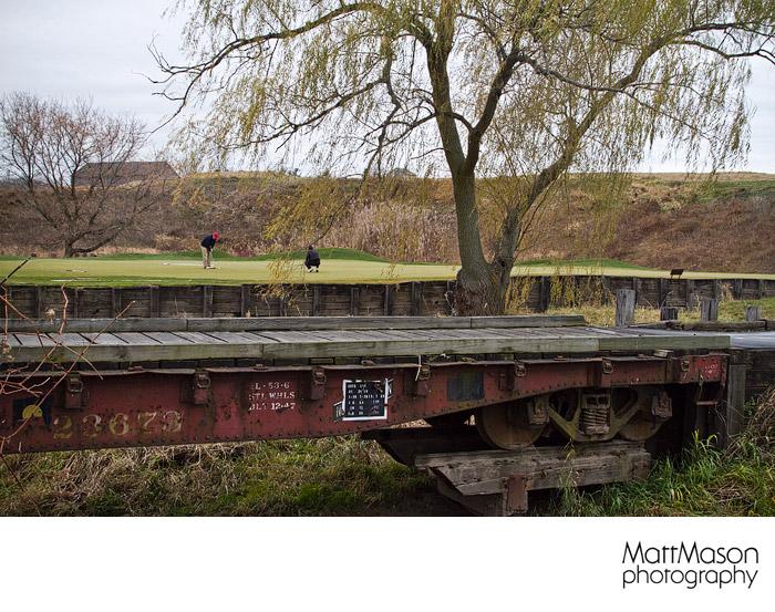 BLACKWOLF RUN train bed bridge