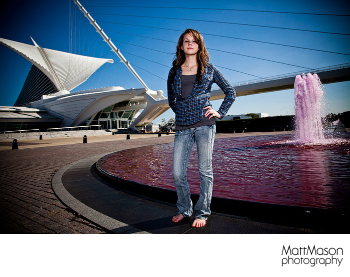 Milwaukee Art Museum Senior Portrait Session