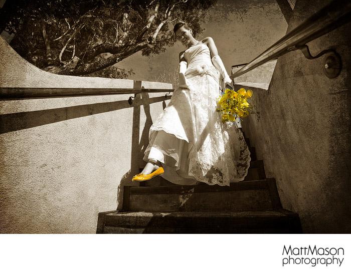 Yellow Wedding moccasins