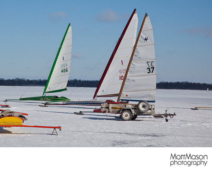 Ice boats staged for action
