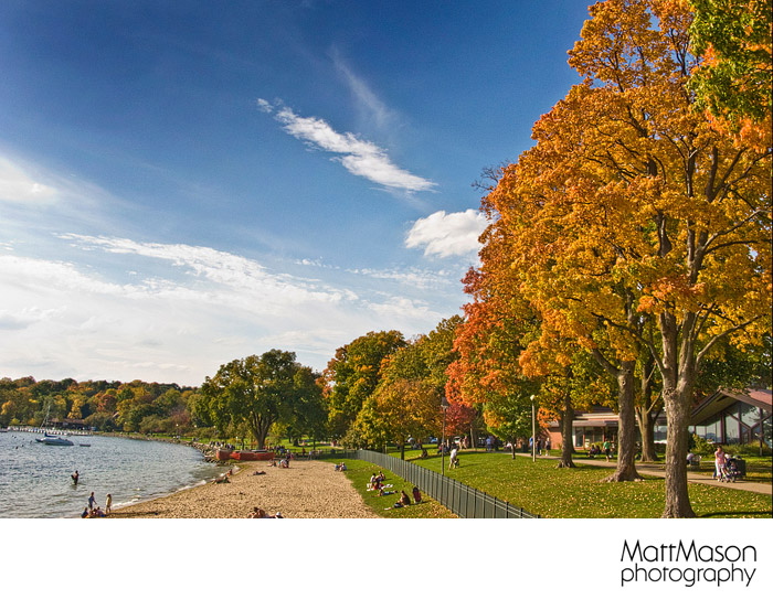 Lake Geneva Beach in the Fall