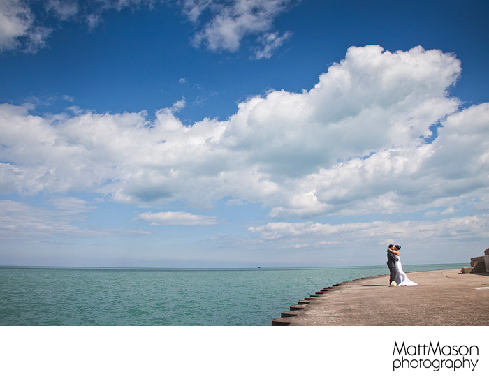 Lake Michigan Wedding Portrait