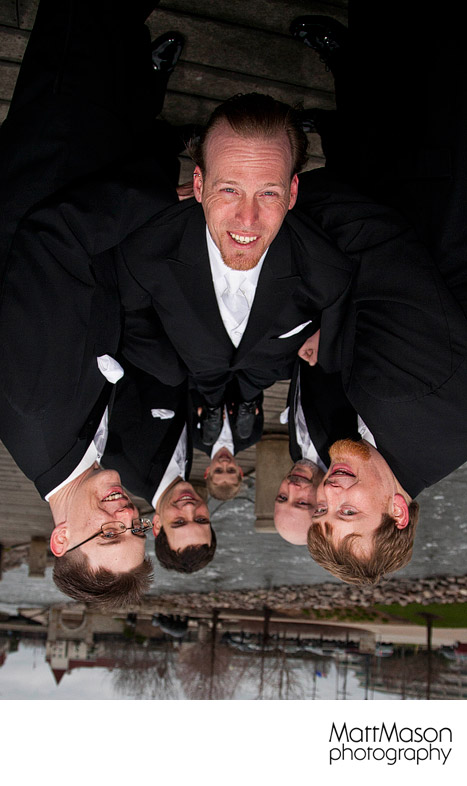 Groom with Groomsmen upside down
