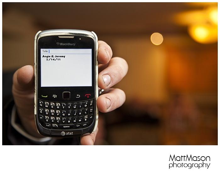 Smart Phone wedding greeting