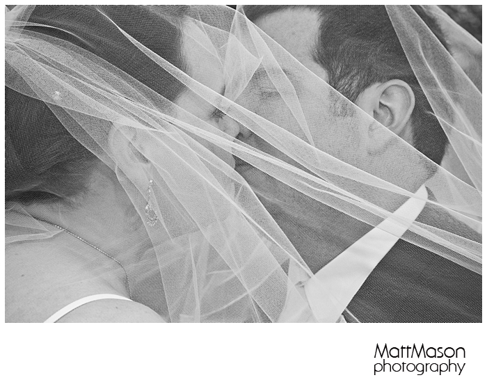 Kissing under a veil