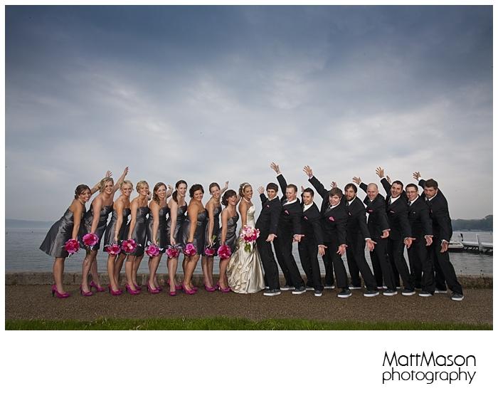 Jazz hands, Lake Geneva Wedding Party shot