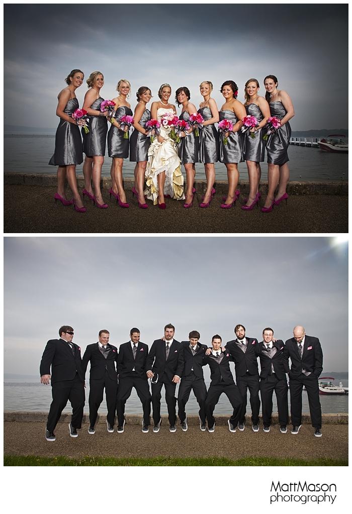 Lake Geneva wedding party photos