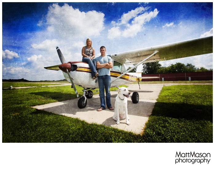 Engagement Session with Airplane
