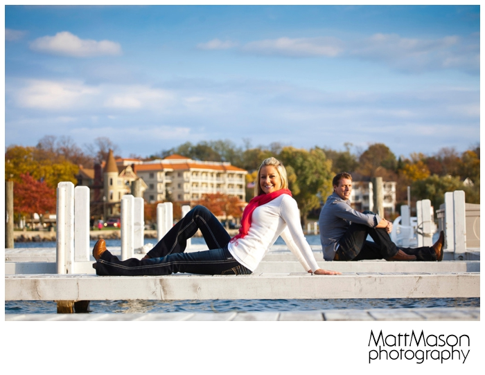 Lake Geneva Engagement Session on Piers